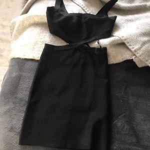 BCBGMAXAZRIA mini cutout dress NWT